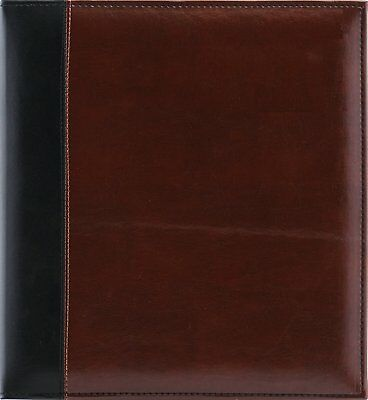 Pinnacle Magnetic Paged Faux Leather Ring Bound Photo Album, 8x10, New