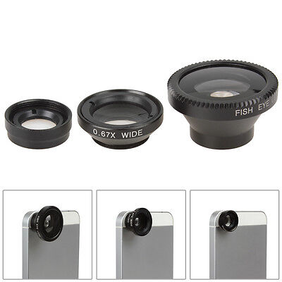 3 in 1 Fish Eye Wide Angle Macro Camera Lens 180° Kit For Apple iPhone 6 6 Plus