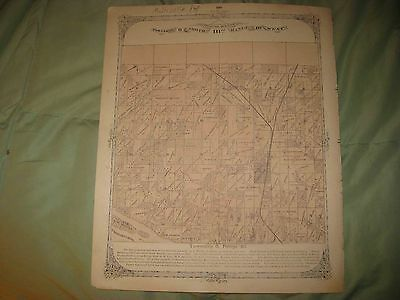 Antique 1873 Godfrey Township City Madison County Illinois Handcolored Map Nr