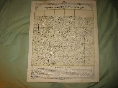Antique 1873 Foster Township Madison County Illinois Handcolored Map Superb Nr