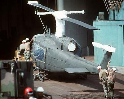 1991 MR Desert Storm Unloading UH-1H Huey at Blount Island Terminal 8x10 Photo