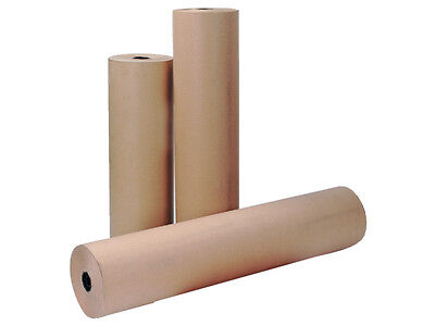 1 Roll Brown Imitation Kraft Wrapping Paper Width 500mm x Length 250M 70gsm +24H