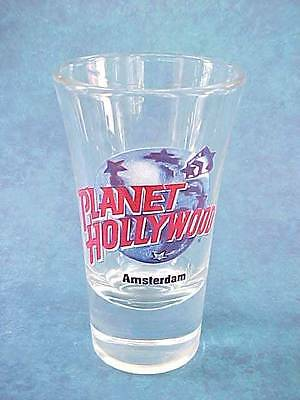 Vintage PH Planet Hollywood AMSTERDAM Tall Shot Glass