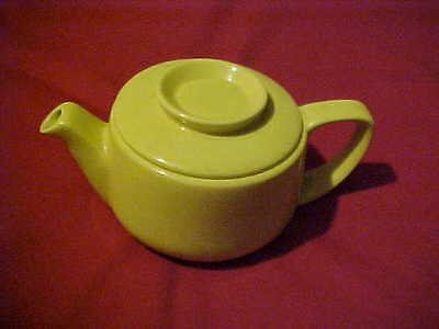 Vintage Hall YELLOW TRICOLATOR COFFEE POT TEAPOT, SM CHIP.