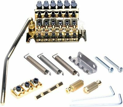 NEW Floyd Rose Special Locking TREMOLO Bridge Gold & R2 Nut Electric Guitar
