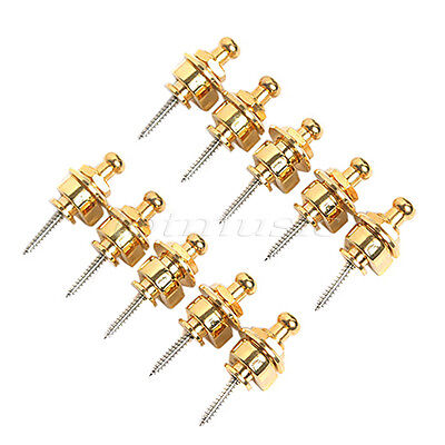 10 Pcs Gold Schaller Strap Locks Buttons Round Head for Electric Guitar Parts
