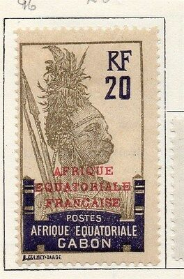 Gabon 1924-27 Early Issue Fine Mint Hinged 20c. 119506