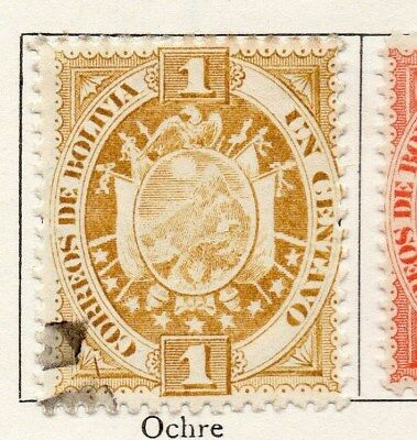 Bolivia 1894 Early Issue Fine Used 1c. 119536