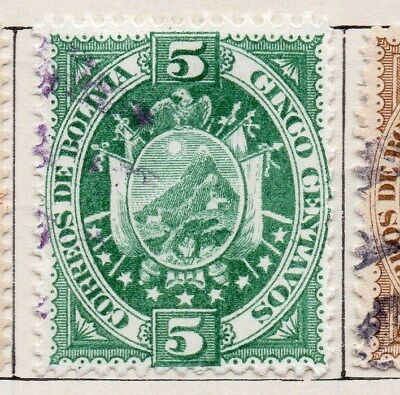 Bolivia 1894 Early Issue Fine Used 5c. 119538