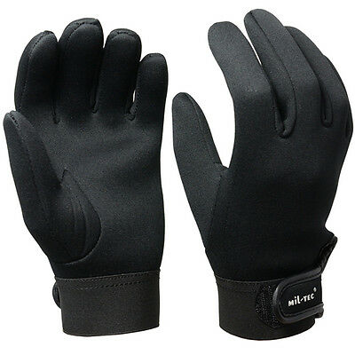 Black Neoprene Gloves - Winter Cycling Walking Fishing Wet Warm 3mm Thick New