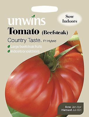 Unwins Pictorial Packet Vegetable Tomato (Beefsteak) Country Taste F1 - 10 Seeds