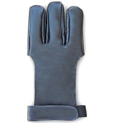 Traditional Archery Shooting Quality Goat Leather Glove Ag300D Black