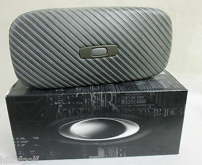 New Authentic Oakley Square O Hard Case Graphite...NEVER DISPLAYED...IN BOX