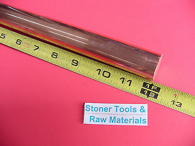 "1"" C110 COPPER ROUND ROD 12"" long H04 Solid 1.00"" OD CU New Lathe Bar Stock"