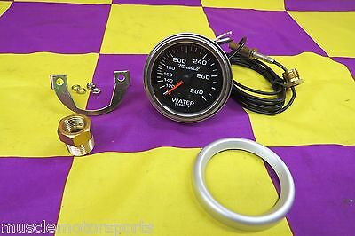 new mechanical water temperature gauge 2 5/8 black face 53103  100-280 degrees