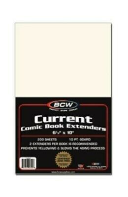 Case of 2000 BCW Current Comic Book Life Extenders - boards to prevent yellowing