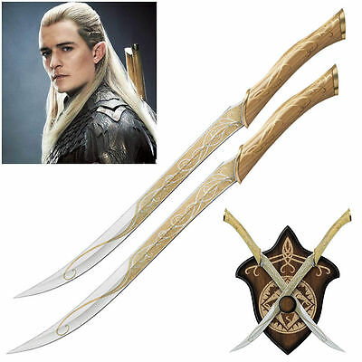 Official LOTR Prop Replica FIGHTING KNIVES OF LEGOLAS GREENLEAF United Cutlery
