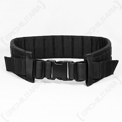 Tactical MOLLE PADDED MODULAR BELT Black Airsoft Army Battle Belt Rig All Sizes