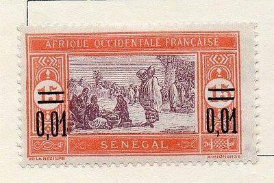 Senegal 1922 Early Issue Fine Mint Hinged Surcharged 0,01 118817