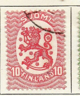 Finland 1918 Early Issue Fine Used 10p. 119668