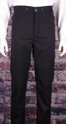 FRONTIER CLASSICS Black Tombstone Trouser Cowboy Steampunk SASS