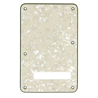 Cavity Trem Cover Back Plate For Fender Strat Guitar Parts 3 Ply Pearloid