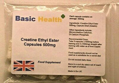 Creatine Ethyl Ester x 120 1500mg per Serving Muscle Growth Strength Gainer Pump