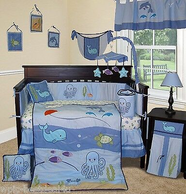 Baby Boutique  - Under the Sea - 15 pcs Crib Bedding Set