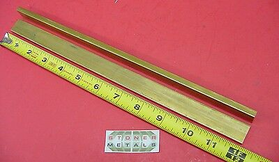 "2 Pieces 1/4"" x 3/4"" C360 BRASS FLAT BAR 12"" long Solid .250"" Mill Stock H02"