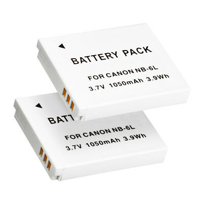 2X NB-6L Battery For Canon PowerShot SX700 HS SX600 HS SX510 HS S90 S95 IXUS 105