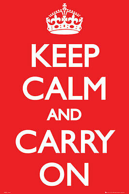 Keep Calm and Carry On New Large Maxi poster 61cm x 91.5cm GN0527 156