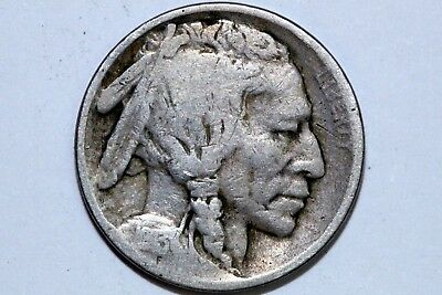 Type 1 VERY GOOD 1913 P Buffalo Indian Head Nickel 5c ~FREE Shipping (BNX844)