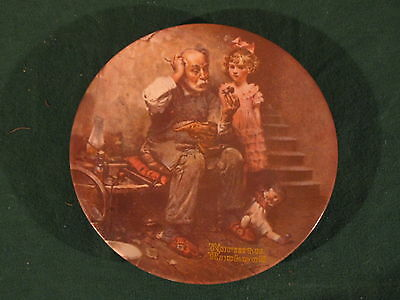 """Norman Rockwell """"The Cobbler"""" Plate"""