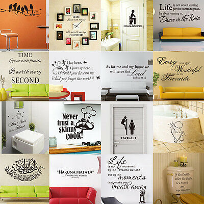 DIY Art Vinyl Removable Wallpaper Wall Stickers Decal Mural Home Room Decor