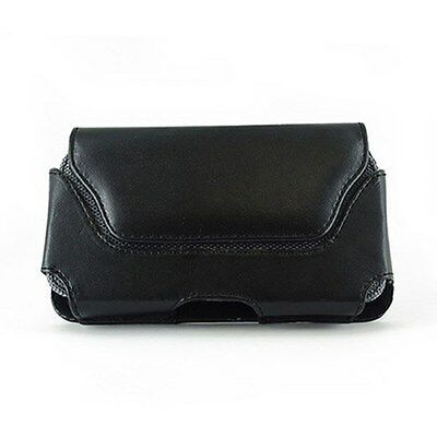 Leather Wider Pouch For Samsung Behold II 2 Two SGH-T939 Fits With OtterBox Case