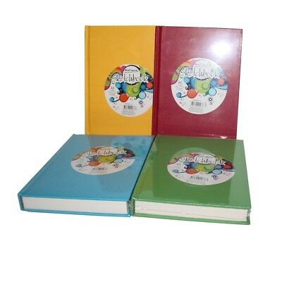 1pce Mont Marte Sketch Book A5 Hard Cover 220page 110gsm, 4 Assorted Colours