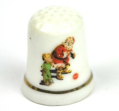 Coca Cola Coke USA Porzellan Fingerhut Porcelain Thimble 1970 - Santa mit Kind