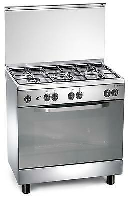 Stainless steel gas cooker 80x50x85 cm with 5 burners gas oven Regal RC855GX UK