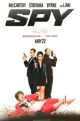 SPY -2015- original 27x40 D/S ADVANCE  Movie Poster - MELISSA MCCARTHY, JUDE LAW
