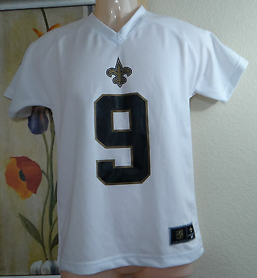 9c290d68e NWT NFL DREW BREES #9 New Orleans Saints white Jersey T-shirt,Youth ...