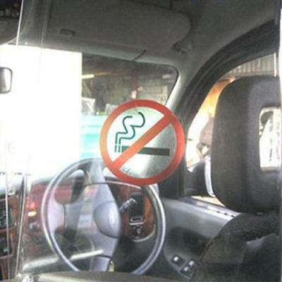 3 x No Smoking Window Stickers Printed On Clear Background 70mm