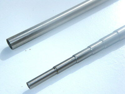 """5 Lot Telescopic Antenna Tube Stainless Steel 10.5"""" to 47"""" retractable to 5 sect"""