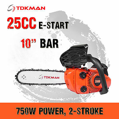 "TDKMAN 25CC Petrol Chainsaw Chain Saw 10"" Inch Bar Tree Log Pruning Pruner"