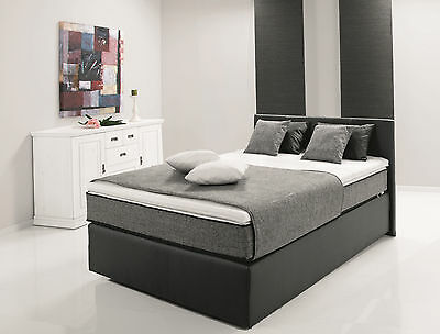 boxspringbett 120 x 200 cm dunkelgrau h rtegrad 2 woody 118 00288 eur 799 00 picclick de. Black Bedroom Furniture Sets. Home Design Ideas