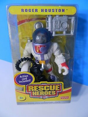 2004 RESCUE HEROES COLLECTIBLE ROGER HOUSTON ACTION CARD Special Edition NEW