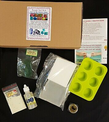 Melt & Pour SOAP MAKING KIT easy SLS / SLES /Palm FREE All you need! DIY Party