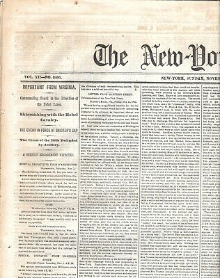 The New York Times Nov.1862 Port Royal Harper's Ferry Viriginia Rebel Cavalry