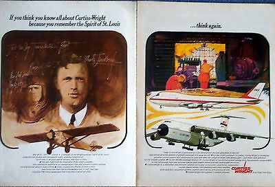 1968 Curtiss Wright Airplane Spirit Of St. Louis C 5 Galaxy US Air Force ad