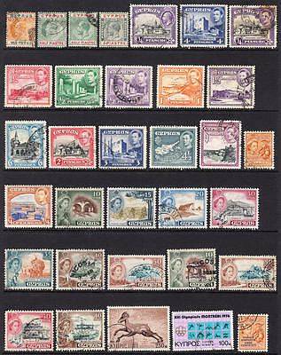 Cyprus collection 70 diff stamps