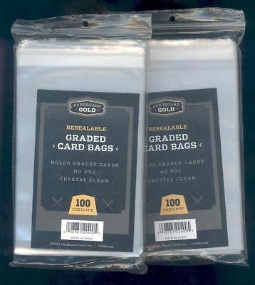 (200) Graded Card Team Bag Sleeves Fits BGS PSA SGC BCCG CARDS FREE SHIPPING USA